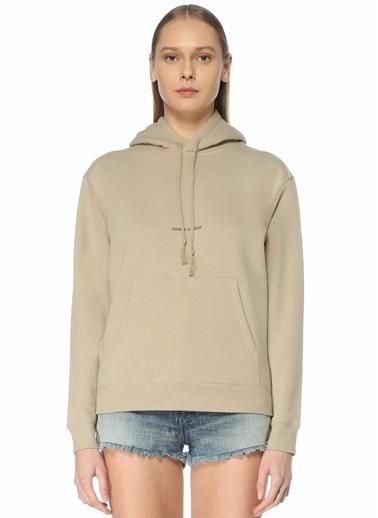 Saint Laurent Saint Laurent  Kapüşonlu Sweatshirt 101622221 Bej
